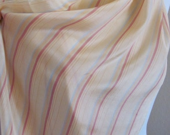 "Ladies Pink Peach Stripe Soft Silk Scarf - 13"" x 52"" Long"