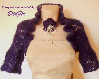 SALE Women BOLERO SHRUG / Wedding Accessories Cape Hand Knitted Elegant Jacket Gift Ideas / Crochet Cardigan Vest Jacket Chic Capelet