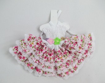 Blythe Outfit Handcrafted Halter colorful dress basaak doll # 950-54