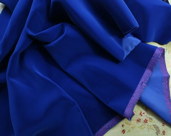 "1 yard vintage velvet rayon 40"" wide heavy rich blueberry blue sapphire Martin millinery  fabric purses bears dolls flapper projects"