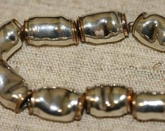 Silver Bracelet , Handmade Bracelet, Sterling Silver Bracelet, Silver Beads Bracelet