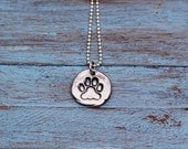 Paw Print Necklace | Dog Paw Necklace Silver | Paw Print Necklace Silver | Personalized Paw Necklace | Pet Lover | Dog Lover
