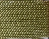 Jade Size 12 Silk Beading Cord with Needle Attached -  Griffin Pure Silk Thread
