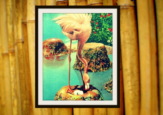 Flamingo Art, Flamingo Print, Pink Flamingo Nursery, Old Florida Art, Flamingo Photograph, Large Wall Art, Tropical Art, Flamingo Decor Art