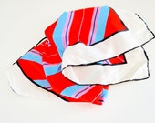 American Striped Red, White, Blue + Pink Scarf