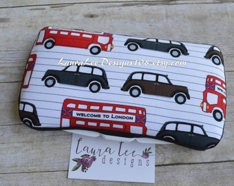 Welcome to London Style Travel Wipe Case, London Wipe Case, Diaper Wipes Case, Personalized Wipe Case, Nappy Wipe Case, Wet Wipes Case