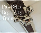 Paw Bells, Dog Potty Trainer, In Dark Brown Jute, Instructions included