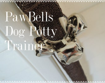 Brown Jute Paw Bells, Dog Housebreaking Potty Trainer, Instructions included
