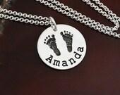 Precious Prints - Your Child's Actual Handprint / Footprint Necklace