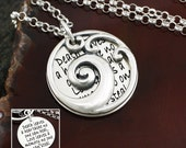 Waves of Grief Necklace Remembrance Necklace | Memorial / Remembrance Jewelry | Sterling Silver
