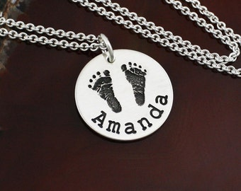 Precious Prints - Your Child's Actual Handprint / Footprint Necklace