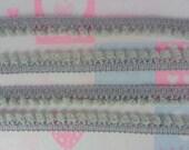Gray Mini PomPom Fringe Hood Scarf Baby Infant Sewing Embellishments Trim Craft Supplies 36 Yards