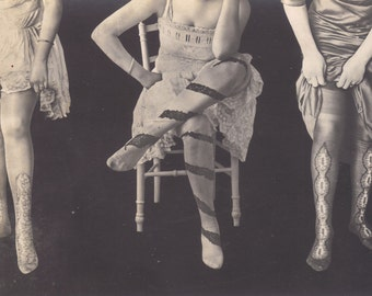 Fancy Ladies' Stockings circa 1910, by cliche Austin
