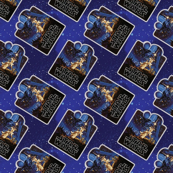 Star wars immortalsvintage poster camelot quilt fabric by the for Star wars fabric
