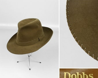 vintage 1940s hat fedora • WHIP STITCH gay prince xs size collectors item