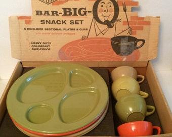Vintage Mid Century JP Gits Bar Big Q Snack Set NOS