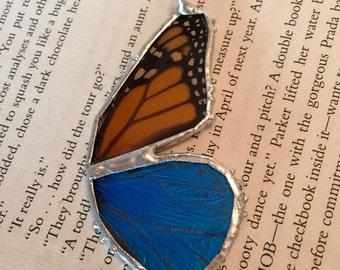 Jewelry, Real butterfly jewelry, real butterfly pendant, real butterfly, Real Butterfly Wing Necklace monarch Pendant, real butterly jewelry