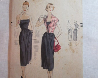 "Antique 1950 Vogue Pattern #7368- size 30"" Bust"