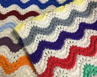 Vintage Afghan Blanket Crochet Throw