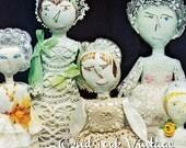 Vintage Sewing Pattern Primitive Rag Soft Dolls Antique Digital Download PDF
