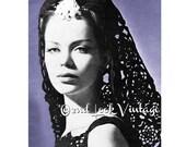 Vintage Crochet Pattern Mantilla Veil Fascinator Crocheted 1960s Digital Download PDF