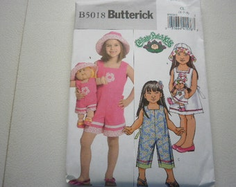 Pattern Girls and Cabbage Patch Dolls Outfits Girls sizes 6-7-8 Butterick 5018