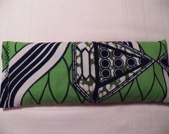 Eye Pillow - Green/White Funky