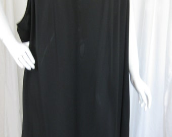 "Vintage 1980s Black Oversized Dress by ""Western Costume"""