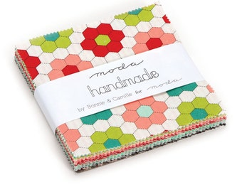 """Handmade 5"""" Squares Charm Pack by Bonnie and Camille for Moda, 42 pieces"""