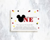 Mickey Mouse Clubhouse Invitations - Choose Your Colors