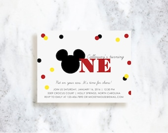 Mickey Mouse Clubhouse Invitations | Choose Your Colors