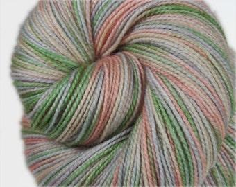 HEY PUMPKIN Superwash Merino Wool/Nylon/Stellina Sparkle Hand-dyed Fingering/Sock Yarn