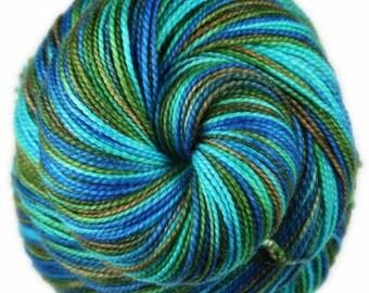 LANIKAI VIEW PART 2  Superwash Merino Wool/Nylon/Stellina Sparkle Fingering/Sock Yarn - 438 yards