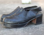 70s Mens Platforms / 1970s vintage mens shoes / 9 1/2
