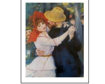 Pierre-Auguste Renoir,Dance at Bougival, Color Plate of 1883, Unframed Fine Art Book Plate