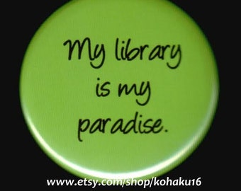 Library Paradise Button
