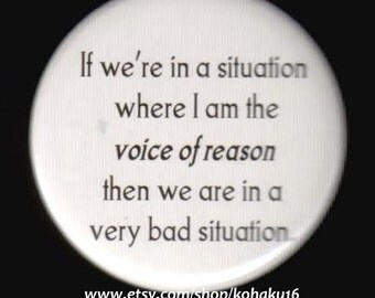 Voice of Reason Button