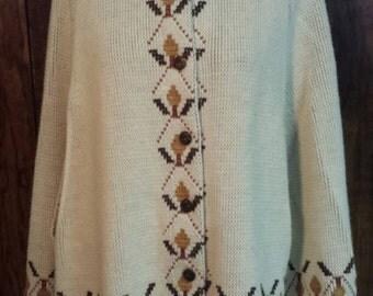 1970's vintage poncho sweater