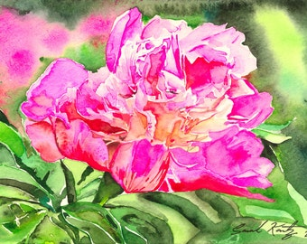 Pink Passion, floral, GICLEE PRINT