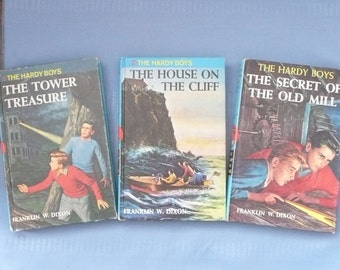 The Hardy Boys Volumes 1-3, The Tower Treasure, The House on the Cliff and The Secret of the Old Mill, by Franklin W. Dixon