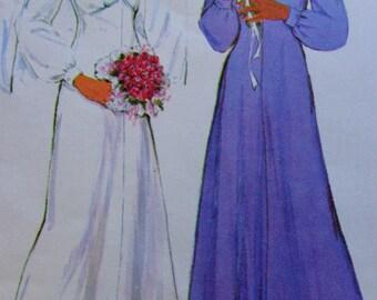 70s High Waist Dress Pattern McCalls 6173 Bust 36 to 40 Maxi Dress UNCUT