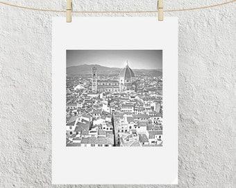 Florence Italy, Rooftop View of Brunelleschi's Duomo, Flirenze Italia, Fine Art Print
