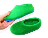 Kids Felted Slippers with Fun Color Rubber Sole - Any Color - Child's Slippers - Toddlers House Shoes - Happy Feet - All sizes