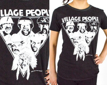 1979 RARE Vintage VILLAGE PEOPLE 1979 In the Navy World Tour Concert T-Shirt. 70's Rock Concert T Shirt. Original Tour Tee. Punk  Disco