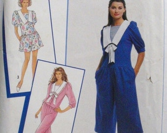 Misses/Misses Petite Dropped Waist Romper In Three Lengths - Sewing Pattern - Simplicity 0682- Sizes P - XL (6 - 24), Bust 30 1/2 - 46