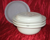 Vintage Tupperware Ultra 21 Four piece 2 Quart, Cover, Colander, and Seal, Oven and Microwave Steamer, Microwave Cooker, Oven Casserole
