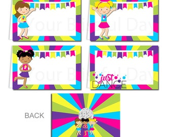 Girl Dance Label Tents | PRINTABLE Girl Dance Label Tents | Dance Party Labels | Girl Dance Buffet Label Tents | Dance Party #5003