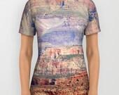 All over print t-shirt - t shirt - tshirt - Grand Canyon Shirt - photography tshirt - photo shirt - womens tshirt - mens tshirt