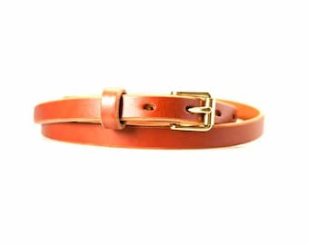 Women's Skinny Leather Belt | Womens Leather Belt