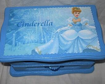 Disney's Cinderella Upcycled Jewelry & Trinket Box